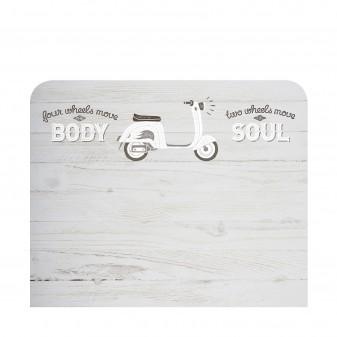 Cabecero infantil moto  Cabeceros Infantiles  Medidas: 1100x900x16mm.; El paquete cabe en el ascensor: si - el paquete cabe en e