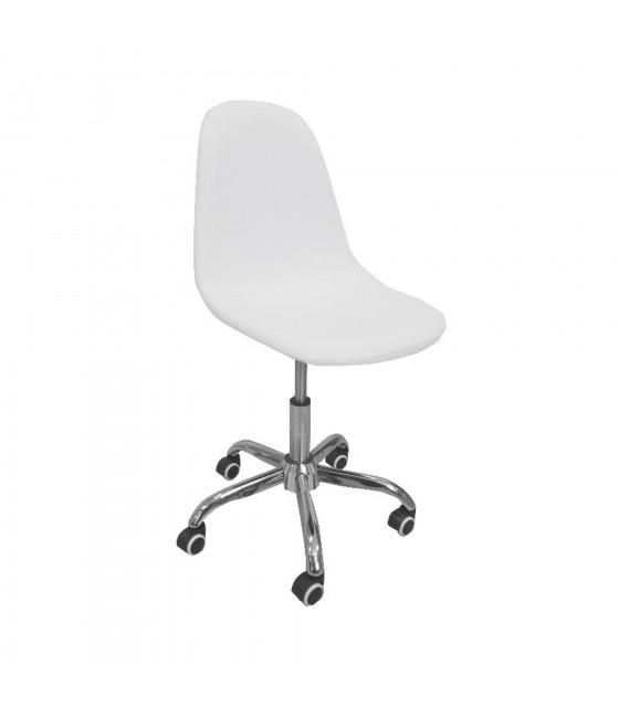 Silla escritorio nórdica blanca