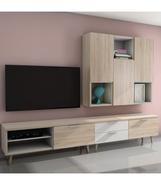 Mueble modular de salón nórdico