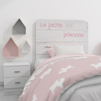 Texte d'en-tête princesse  TETÊ DE LIT  Measurements: