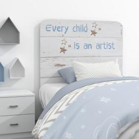 Cabecero infantil mensaje Muebles juveniles Cabeceros Infantiles Medidas: 1100x900x16mm; El paquete cabe en el ascensor: si -