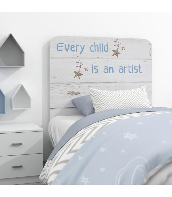 Cabecero infantil mensaje