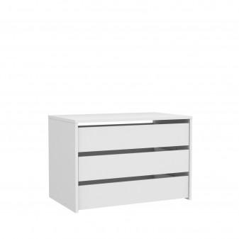 Cajonera blanca para armario de 180 cm  Accesorios armario  Medidas: 750x445x500mm; El paquete cabe en el ascensor: si - el