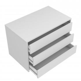 Cajonera blanca para armario de 180 cm  Accesorios dormitorio  Medidas: 750x445x500mm; El paquete cabe en el ascensor: si - el