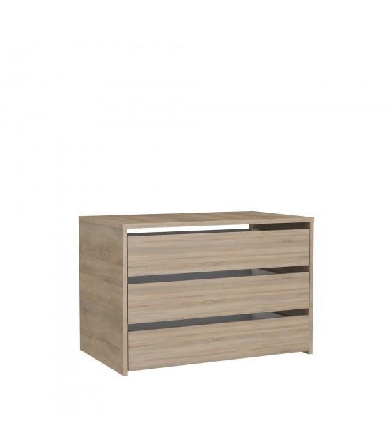 Cajonera de madera para armario de 180 cm