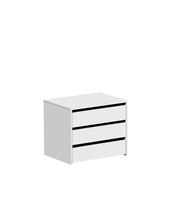 Cajonera para armario de 150 cm blanca