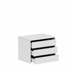 Cajonera para armario de 150 cm blanca Muebles Dormitorio Accesorios armario Medidas: 600x455x500mm; El paquete cabe en el