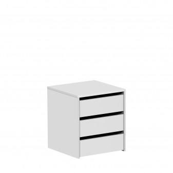 Cajonera blanca para armario de 120 cm  Accesorios armario  Medidas: 450x445x500mm; El paquete cabe en el ascensor: si - el