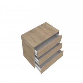 Cajonera para armario de 150 cm de madera  Accesorios armario  Medidas: 450x445x500mm; El paquete cabe en el ascensor: si - el