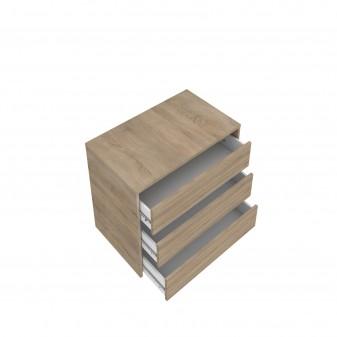 Cajonera para armario de 150 cm de madera  Muebles Dormitorio Accesorios armario  Medidas: 450x445x500mm; Incluye herramientas: