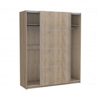 Armario correderas roble180cm ancho Armarios dormitorio Medidas: 1800x600x2200mm; El paquete cabe en el ascensor: si - el