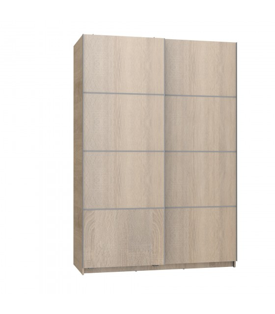 Armadio scorrevole in rovere largo 150 cm