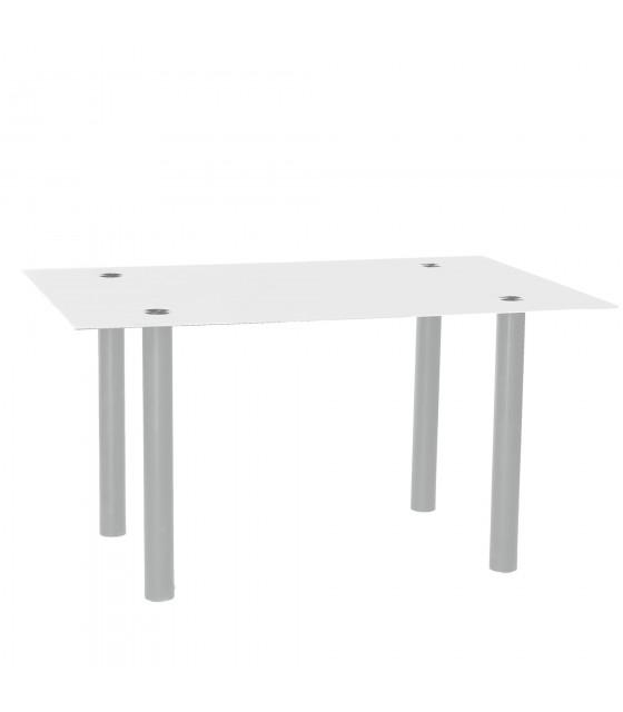 Mesa basic blanca/gris