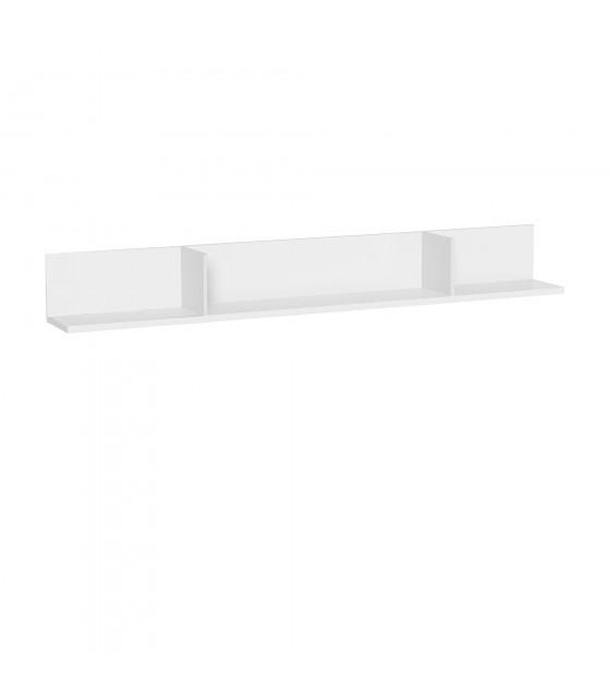 Estante de pared 250 cm blanco