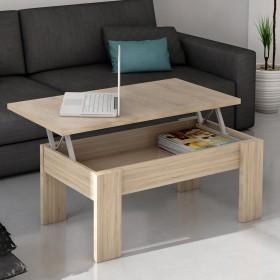 Table de centre élevable chêne TABLES BASSE DISTRIMOBEL
