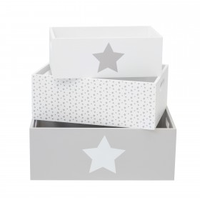 Ajuste as caixas de madeira decorativas da estrela CRIANÇAS E