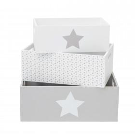 Set cajas de madera decorativas estrella Decoración Infantil Cajas y cestos El paquete cabe en el ascensor: si - el paquete