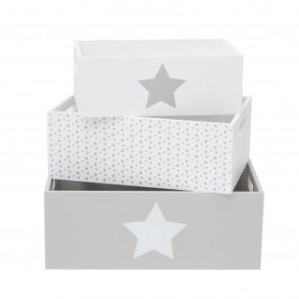 Set cajas de madera decorativas estrella  Decoración Infantil Cajas y cestos  Tipo de producto: decoración; Material Principal: