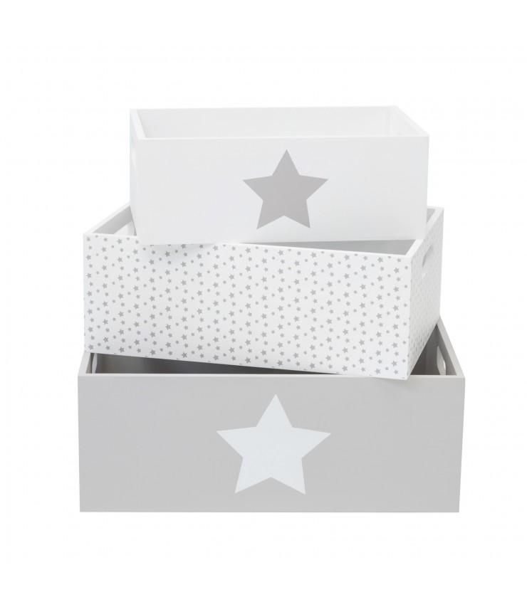 Ajuste as caixas de madeira decorativas da estrela
