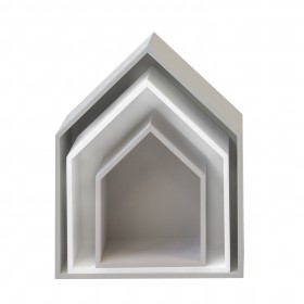 Set 3 estantes casita gris y blanco star Infantil y juvenil DISTRIMOBEL
