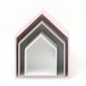Set 3 coques casita rosa, gris et blanc  CHAMBRE ENFANT
