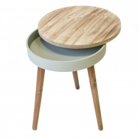 Table auxiliaire rond mix MINI COMMODE The package fits in