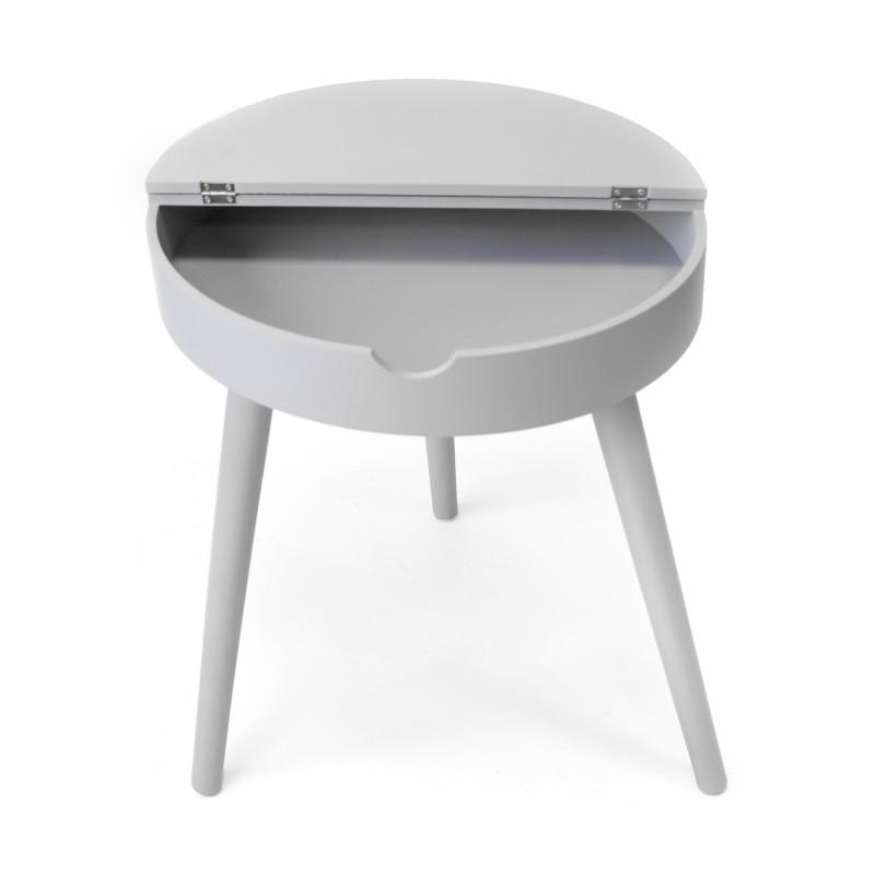 Mesita auxiliar con tapa elevable  Salón Mesas auxiliares  Incluye herramientas: si - incluye herramientas; Color: gris; Tipo de