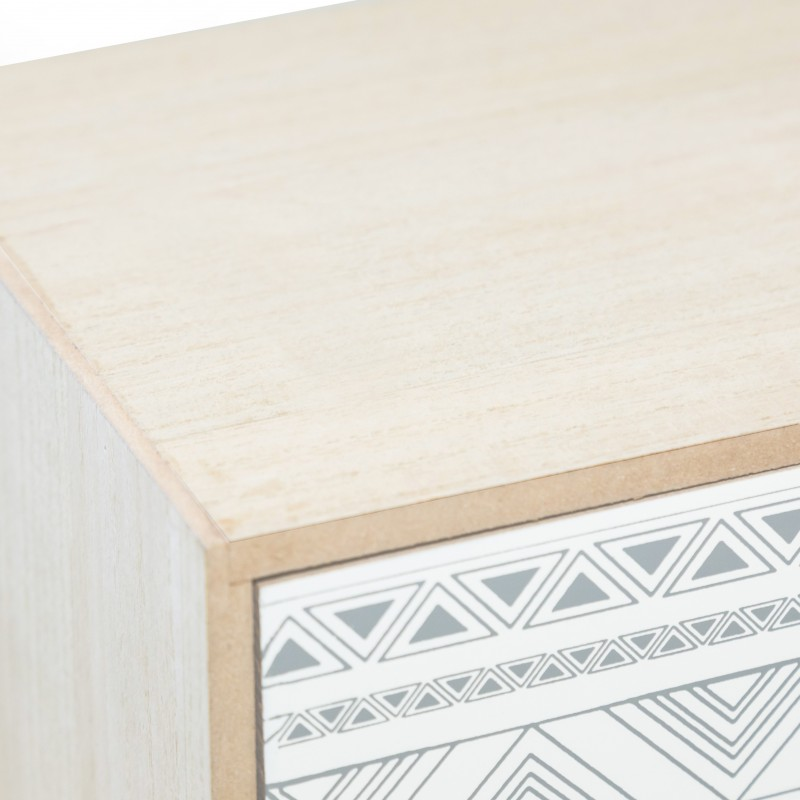 Mesa de café duas gaveta cinza e branco  GAVETEIRAS E CÓMODAS
