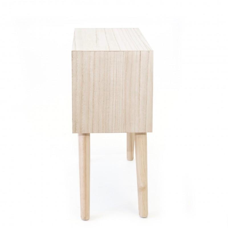 Table basse à deux tiroirs gris et blanc  COMMODE ET CHIFFONIER