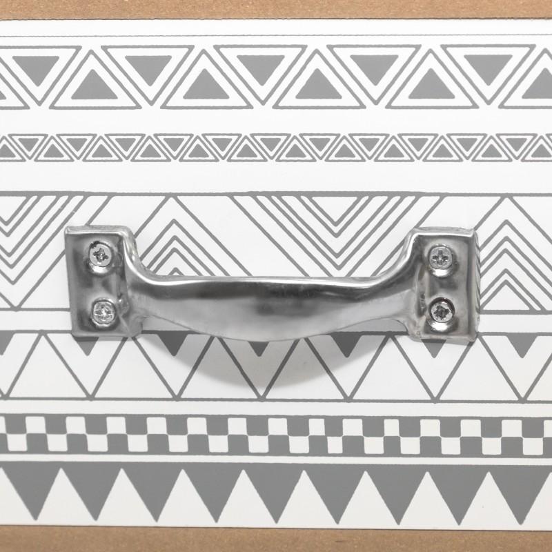Mesa de café três cinza e branco cinzento cambaleante gavetas