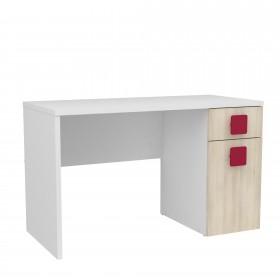 Bureau en bois blanc CHAMBRE ENFANT COLORES DISPONIBLES: rojo