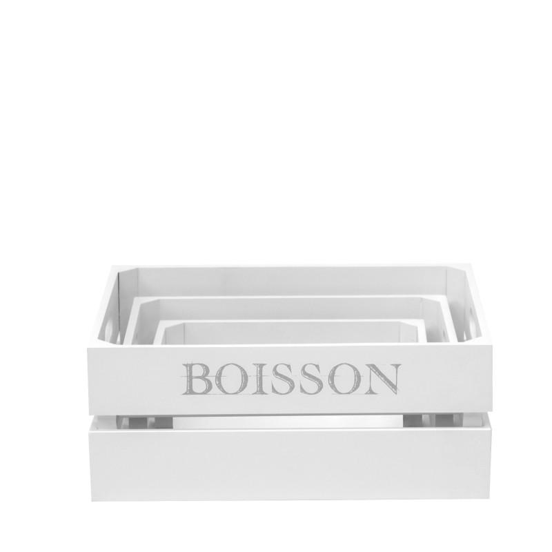 Set 3 cajas asfeld  Accesorios de cocina   DISTRIMOBEL