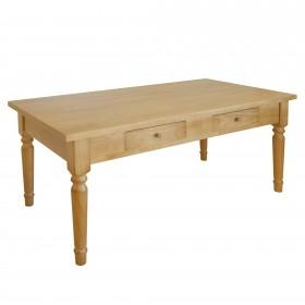Table en chêne solide avec des tiroirs TABLE DISTRIMOBEL