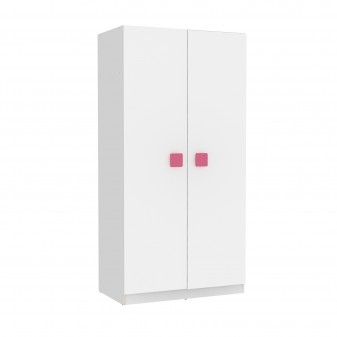 Armario juvenil blanco puertas blancas  Armarios juveniles COLORES DISPONIBLES: magenta, berenjena, moka, rojo, azul, blanco