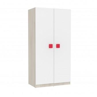 Armario juvenil natural puertas blanca Armarios juveniles COLORES DISPONIBLES: magenta, rojo, moka, berenjena, blanco, azul