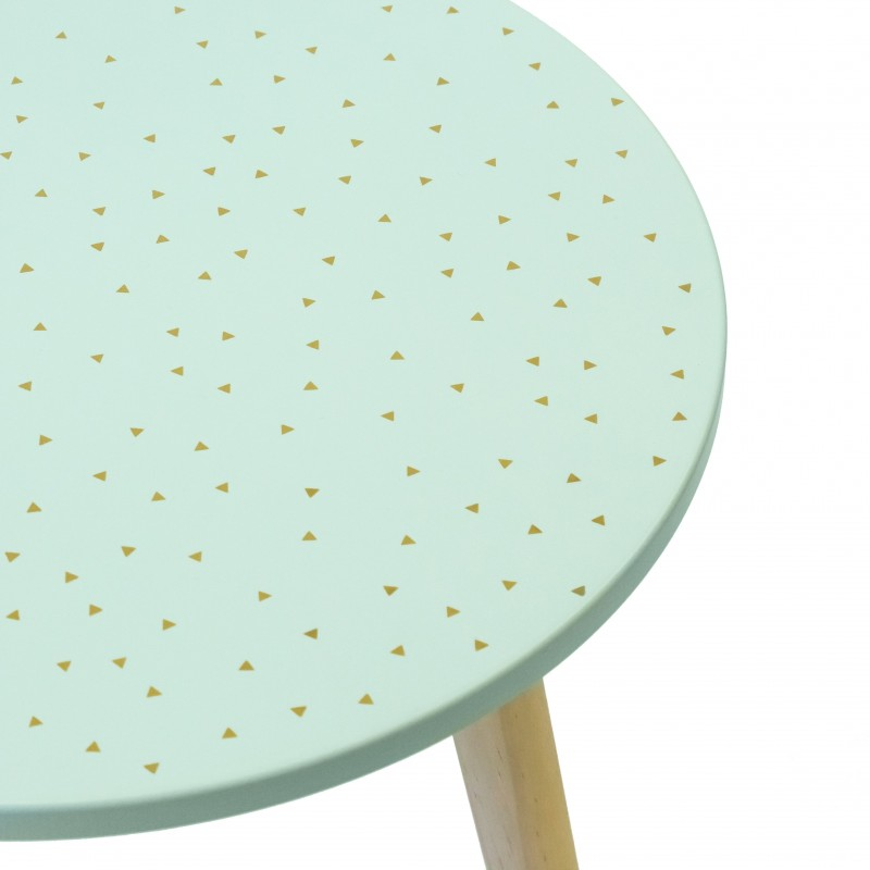 Table basse auxiliaire or vert  MINI COMMODE   DISTRIMOBEL