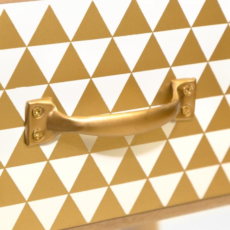 Mesita nórdica oro  Muebles Dormitorio Mesitas, cómodas y sinfoniers   DISTRIMOBEL Muemue - Muebles