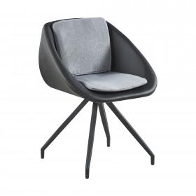 Coussins noir polipiel chaise gris CHAISES The package fits