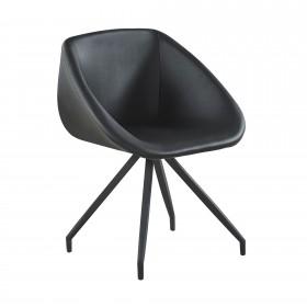 Cadeiras cinza black polipiel cadeira  CADEIRAS DE JANTAR  El