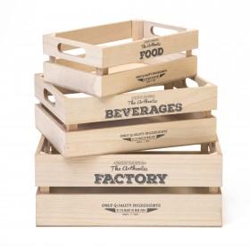 Set 3 cajas old castle  Muebles Cocina Accesorios de cocina  Incluye herramientas: montado. no necesita montaje; Color: madera;