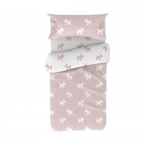 Juego de funda nórdica infantil perrito  textil Fundas nórdicas  Color: pastel rosa; Tipo de producto: edredón; Tematica: puppy;