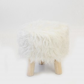 Tabouret beige TABOURETS ET PUFS The package fits in the