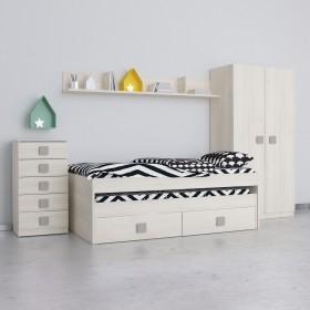 Conjunto dormitorio juvenil natural frentes en natural Conjuntos COLORES DISPONIBLES: magenta, berenjena, rojo, moka, blanco