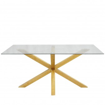 Stacy oak table  TABLE  The package fits in the elevator: si -