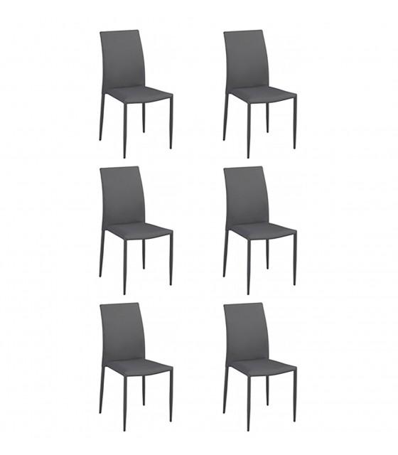 Pack 6 sillas de comedor básicas