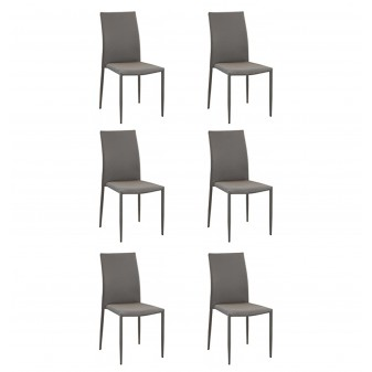 Pack 6 sillas de comedor básicas Pack sillas comedor COLORES DISPONIBLES: marrón, gris El paquete cabe en el ascensor: si - el