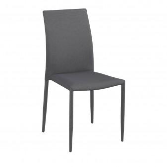 Pack 6 sillas de comedor básicas Salón Pack sillas comedor COLORES DISPONIBLES: marrón, gris El paquete cabe en el ascensor: si
