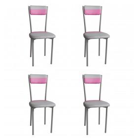 Pack 4 sarin cadeiras Importação Distrimobel COLORES
