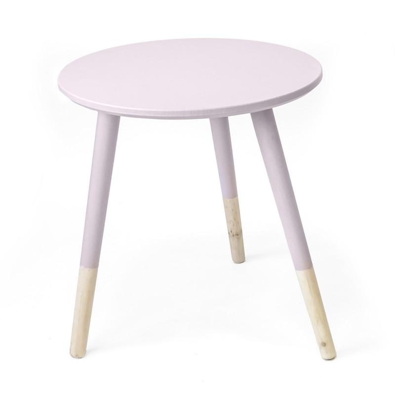 Conjunto 2 mesitas auxiliares redondas  Salón Mesas auxiliares COLORES DISPONIBLES: rosa pastel, menta Incluye herramientas: si