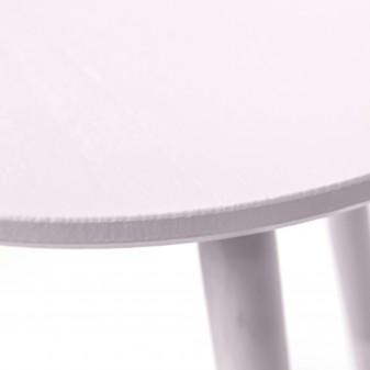Conjunto 2 mesitas auxiliares redondas  Mesas auxiliares COLORES DISPONIBLES: rosa pastel, menta El paquete cabe en el ascensor: